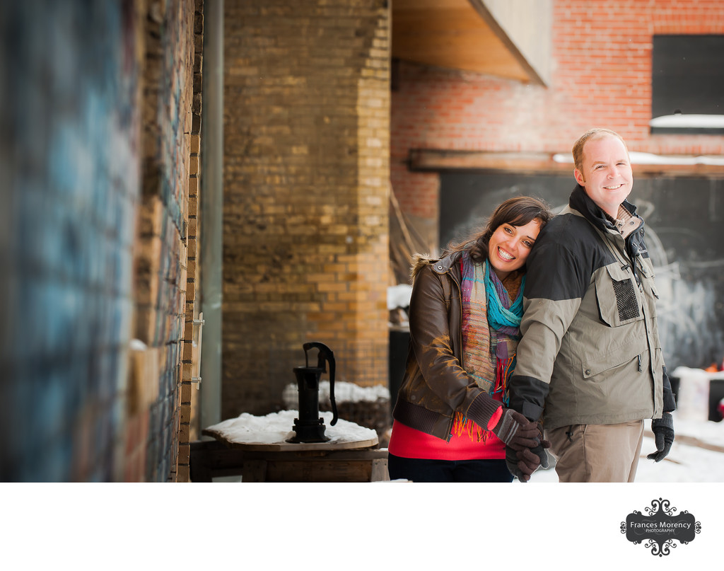 Evergreen Brickworks Engagement Photographer