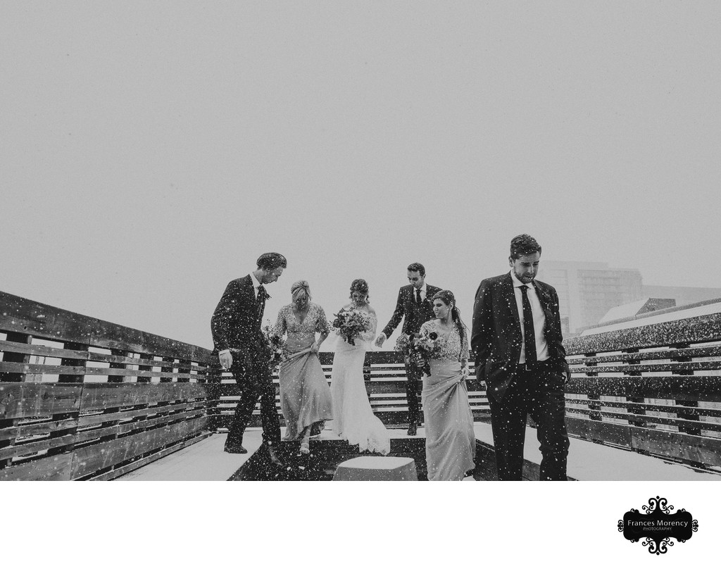 Journalistic Photo of Wedding Party at Toronto Wedding