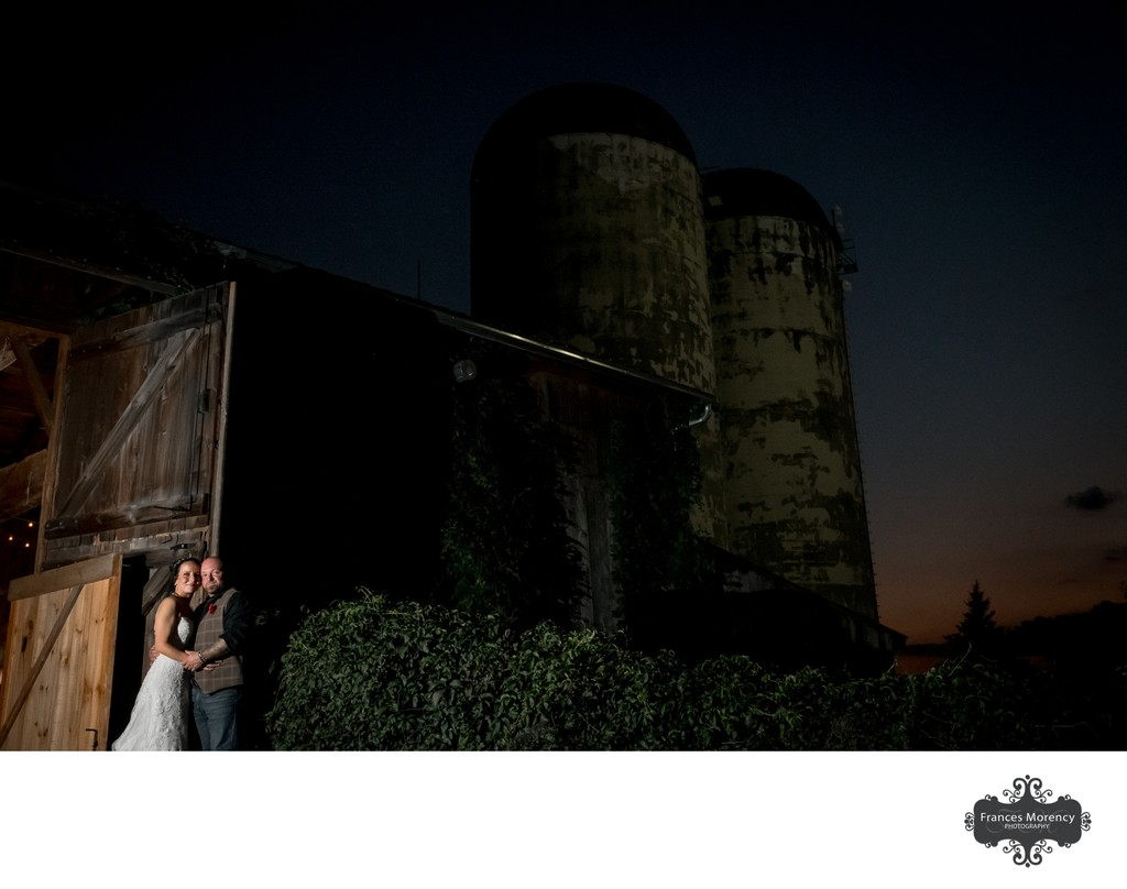 Night Photo:  Belcroft Estate Wedding Photographer