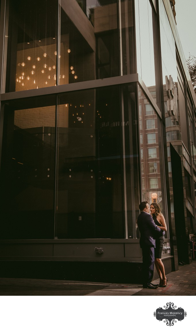 Night Portraits:  Yorkville Engagement Photographer