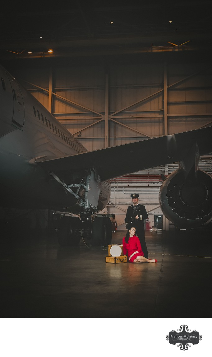 Engagement Portrait at Airport