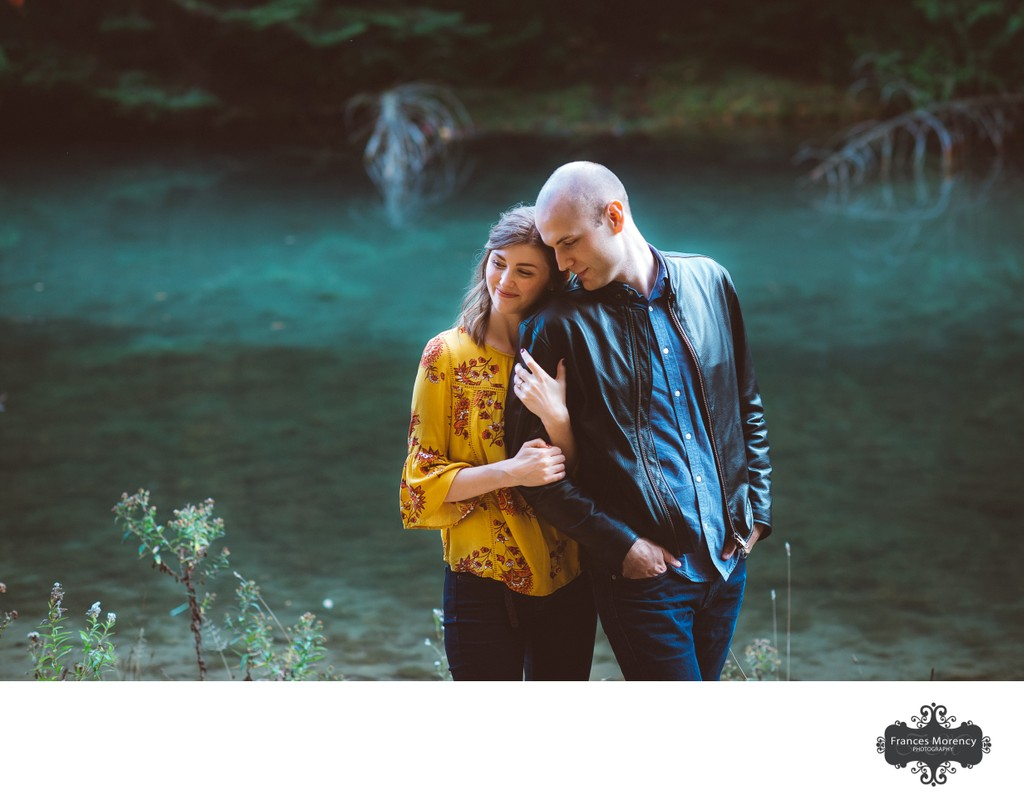Engagement Portrait by Turquoise Lake