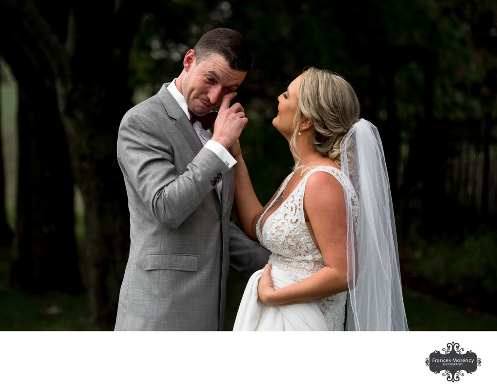 First Look:  Collingwood Wedding Photographer