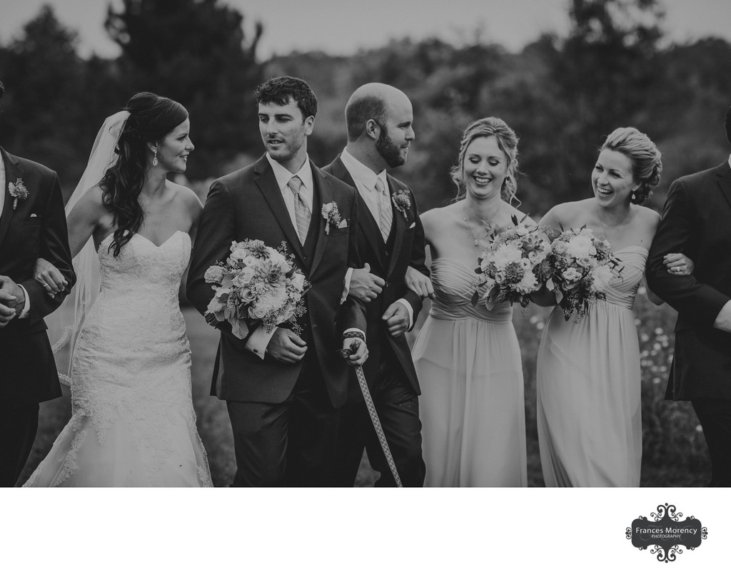 Journalistic Wedding Party Photos at Cobble Beach Golf