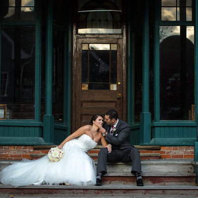Downtown Kleinburg Historic General Store Wedding Portrait
