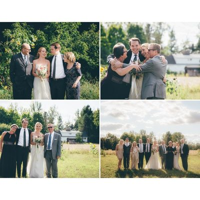 Candid Unposed and Posed Family Photographs at Weddings