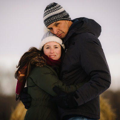 Winter Engagement Photographer in Collingwood Ontario