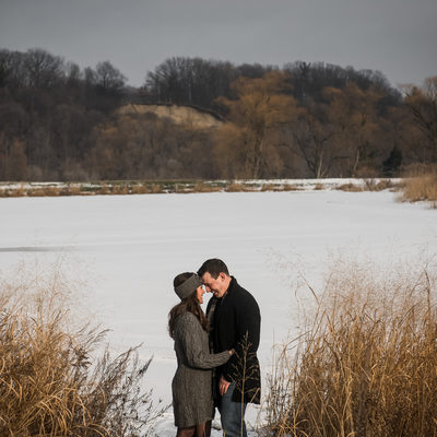 Alliston Engagement Photography in Field