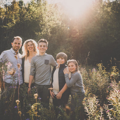 Caledon Family Photographer at Mono Cliffs