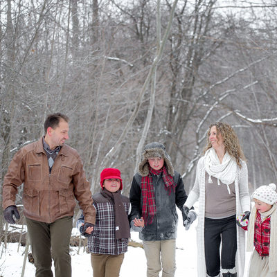 Collingwood Family Photography in Winter