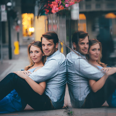 Owen Sound Engagement Session at Dusk Downtown