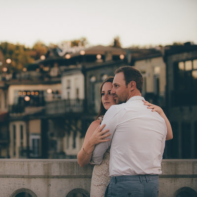 Pre-Wedding photography in Paris at Dusk