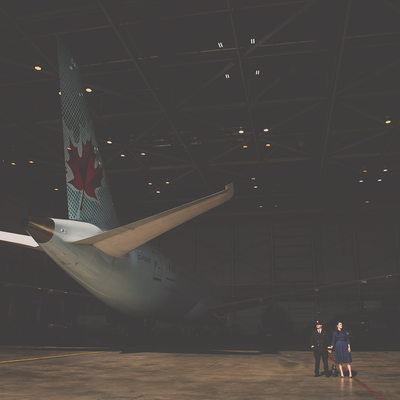 Toronto Airport Pre-Wedding Engagement Photographer