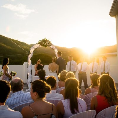 Riu Palace Roof Top Wedding Ceremony at Sunset