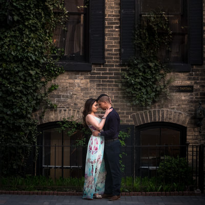Yorkville Pre-Wedding Photography during golden hour