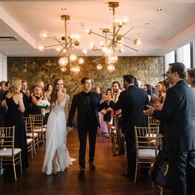 Restaurant Wedding Ceremony Recessional Photographer