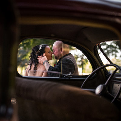 Wedding Photo with Car:  Belcroft Estate & Event Centre