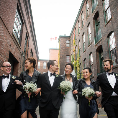 Collingwood Wedding Photography with Bridal Party