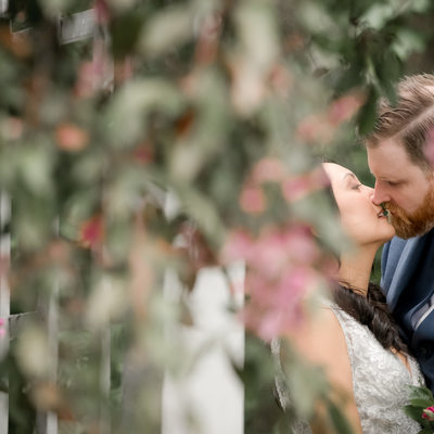Ancaster Mill Wedding Portraits on a Rainy Day