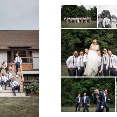 Wedding Party Photos at Erin Estate Weddings