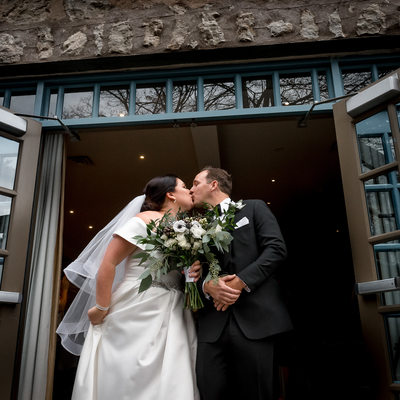 The Millcroft Inn & Spa Wedding Kiss at Recessional