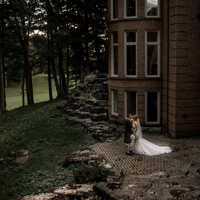 Pheasant Run Golf Club Wedding Portrait