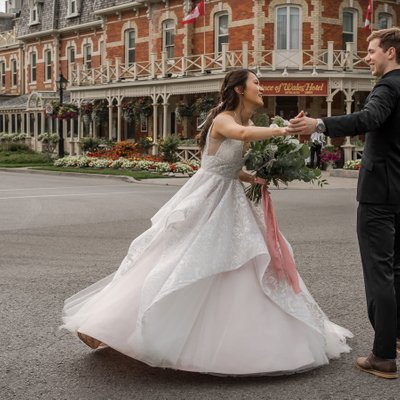 Twirling Bride: The Prince of Wales Wedding Photographer