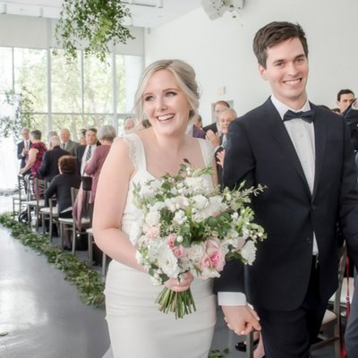 Art Gallery of Hamilton Wedding Recessional Photo