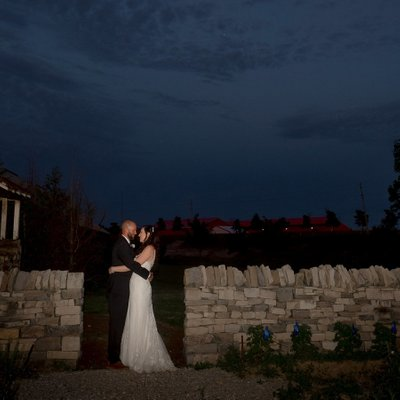 Blue Hour Portrait at Hanover Wedding