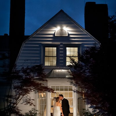 Night Photo: Best Donalda Club Wedding Photographer