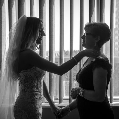 Mother Daughter Moments on Wedding Day in Mississauga