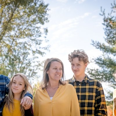 Yellow and Plaid Topes:  Caledon Family Photographer