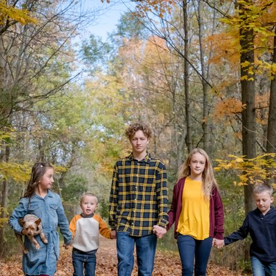 Caledon Family Photography with Children in Yellow