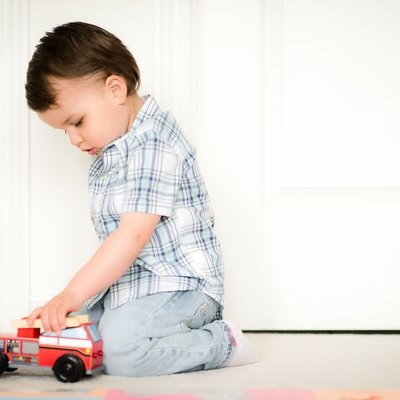 Boy with Truck:  Caledon East Family Photographer