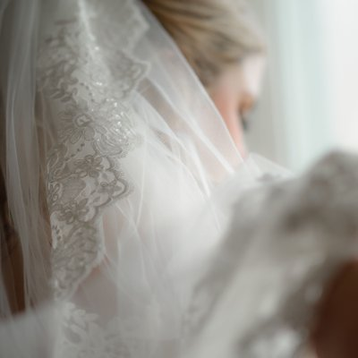 Bride Veil:  Blue Mountain Wedding Photographer