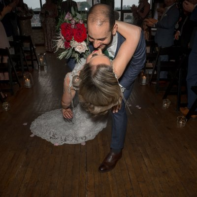 Recessional Dip: The Burroughes Building Wedding Photos