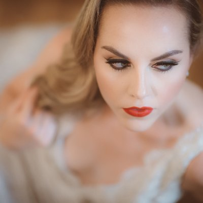 Bride Portrait:  The Burroughes Building Wedding Photo