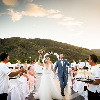 Rooftop Wedding Ceremony:  Riu Palace Costa Rica
