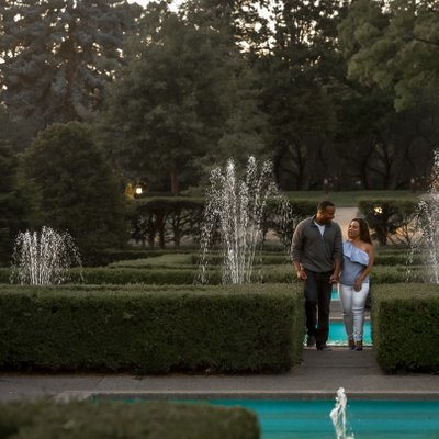 High Park Engagement Photography at Fountains
