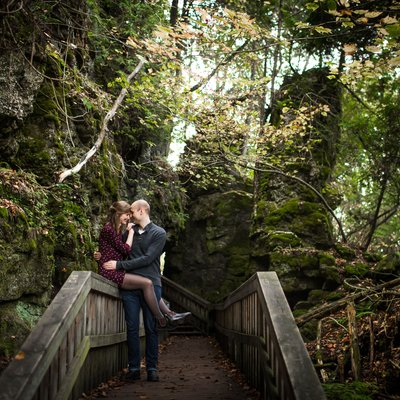 Mono Cliffs Engagement Photography