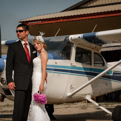 Hanover Wedding Photos at Aviation School