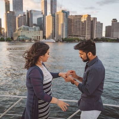 Proposal on a Yacht:  Toronto Engagement Photographer