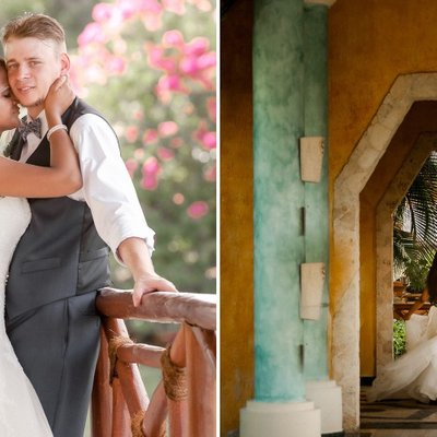 Mexico Destination Wedding Pictures on Resort