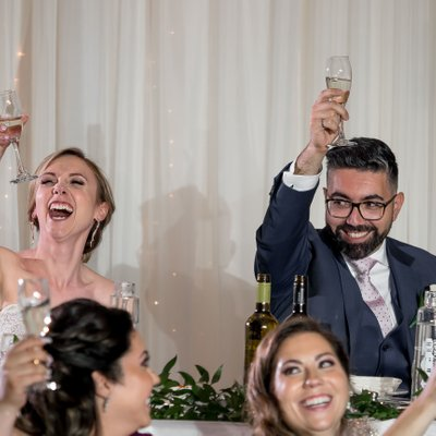 Bride Toast:  Mississauga Convention Centre Wedding