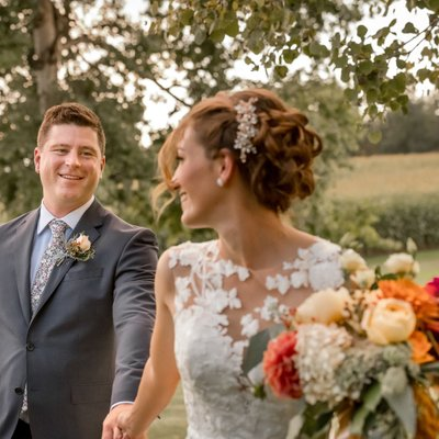 Bride Leads Groom:  Creemore Wedding Photographer