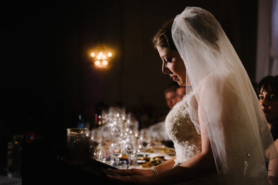The Manor Kettleby Bride with Veil Giving Speech