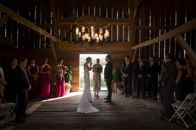 Barn Wedding Ceremony with Caledon Photographer