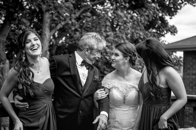Capturing the moments in between with father and bride