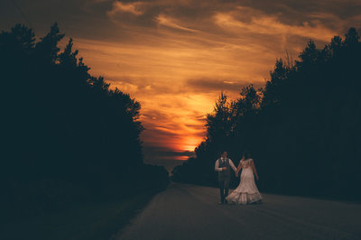 Spring Creek Gavel Farm Wedding Photos at Sunset