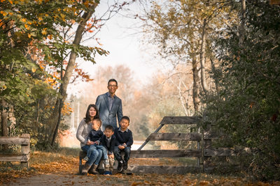 Palgrave Family Photos on Trail in Fall